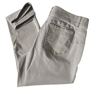 Tribal Jeans Ankle Jegging Stretch Gray Wash 16